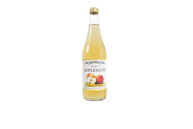 Högupplöst bild på Äpplemust i 63cl flaska.
