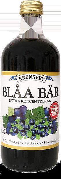 Bild på Blåa Bär saft i 50cl flaska.