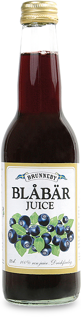 Bild på Blåbärsjuice i 33cl flaska.