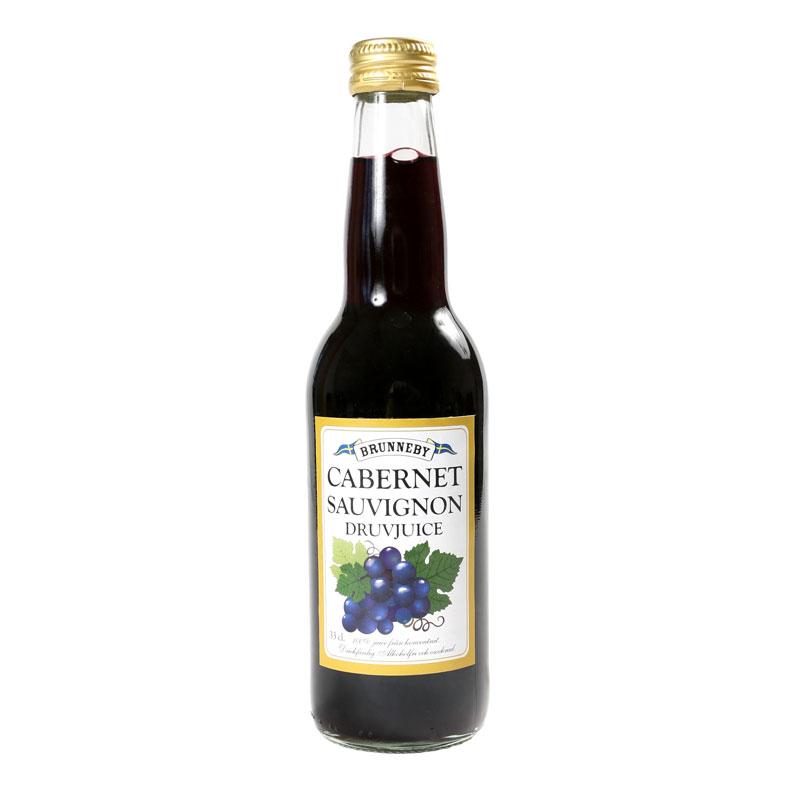 Högupplöst bild på Cabernet Sauvignon Druvjuice i 33cl flaska.