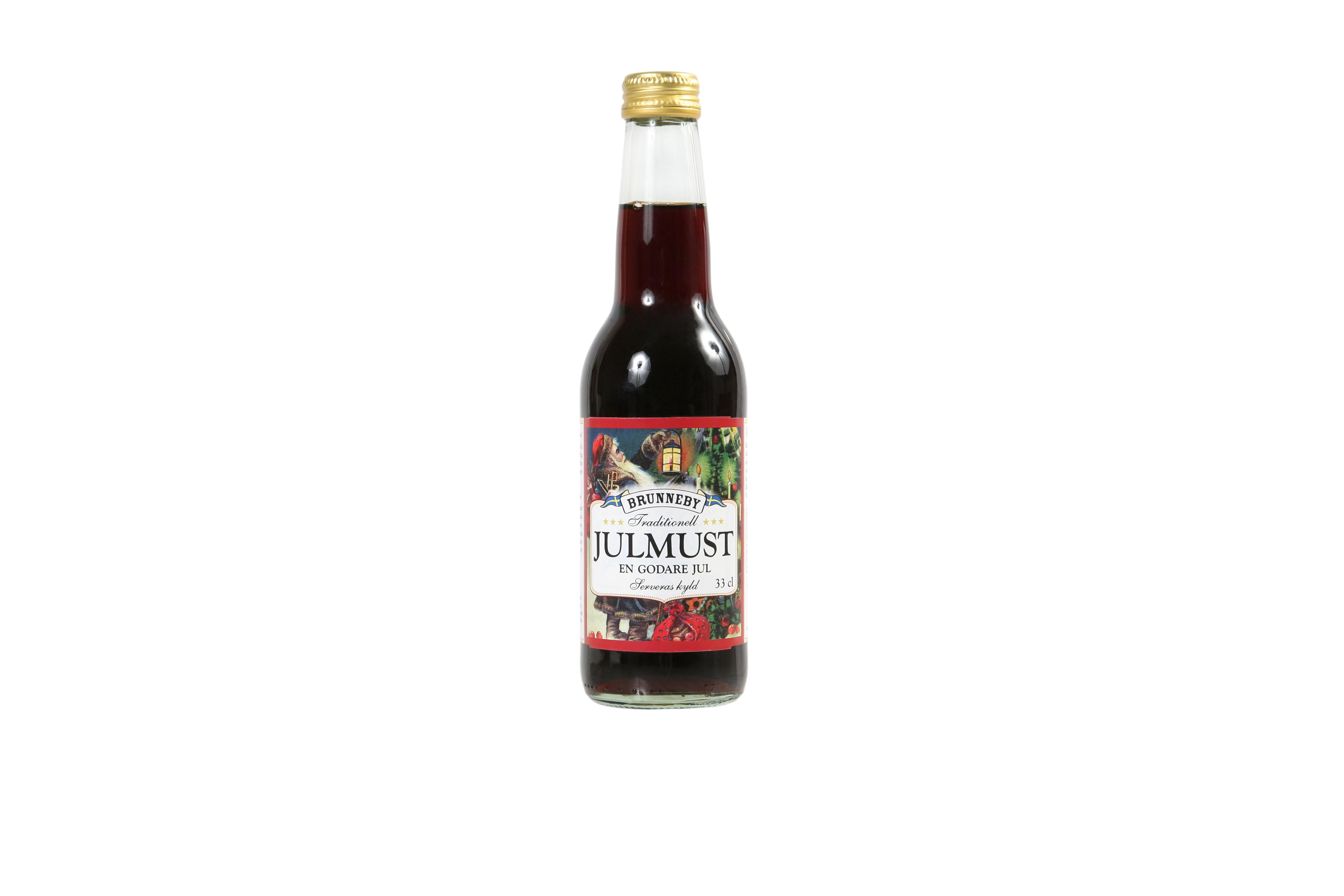 Högupplöst bild på Julmust i 33cl flaska.