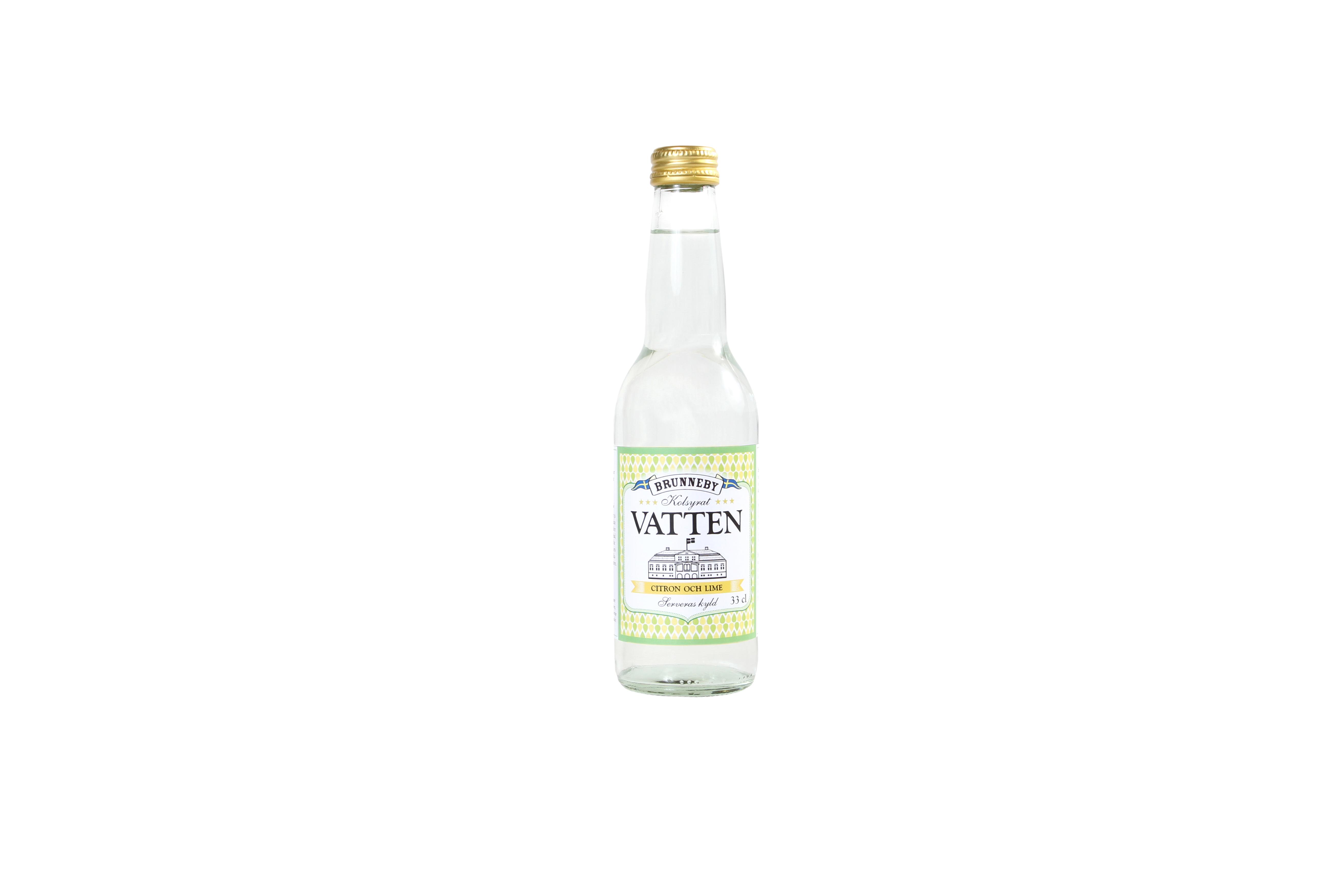 Högupplöst bild på Kolsyrat vatten citron och lime i 33cl flaska.