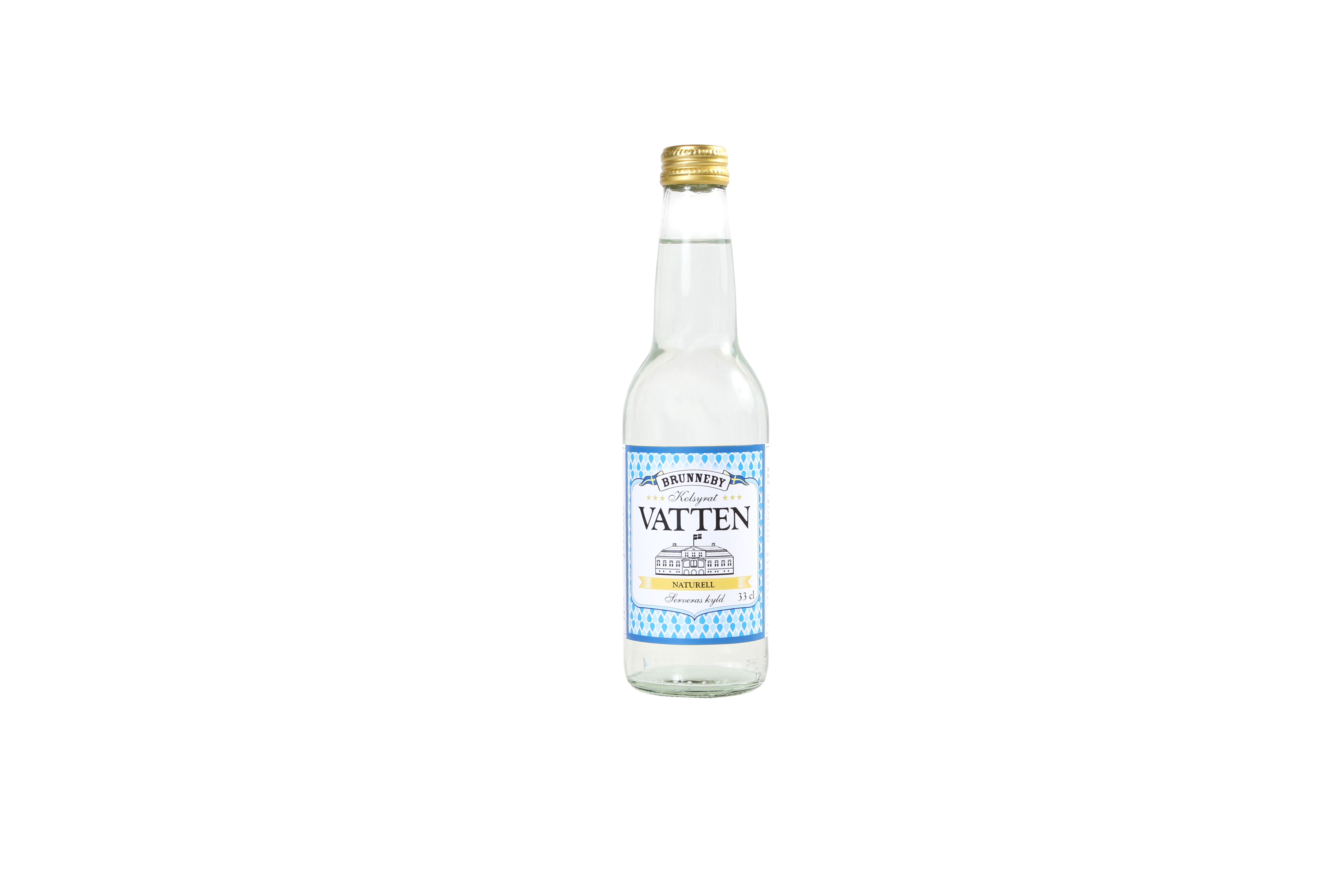 Högupplöst bild på Kolsyrat vatten naturell i 33cl flaska.
