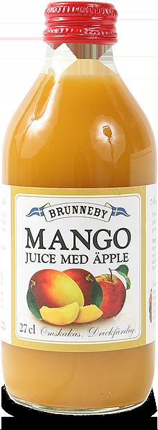 Bild på Mangojuice med äpple i 27cl flaska.