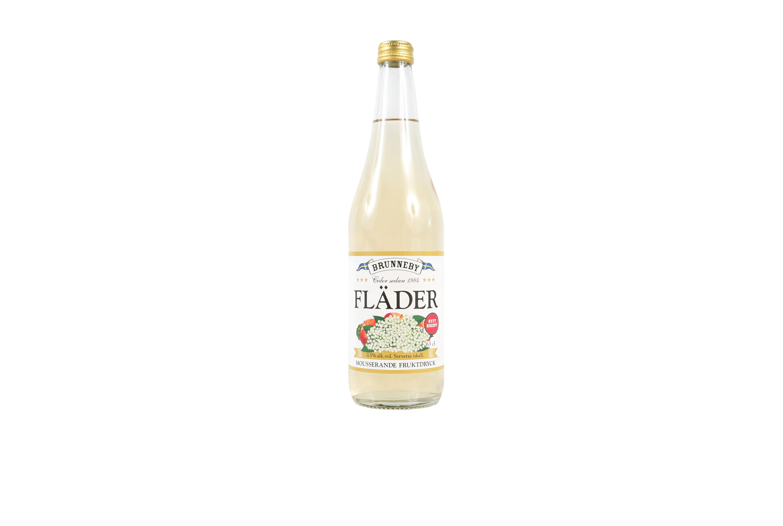 Högupplöst bild på Mousserande Fläder i 63cl flaska.