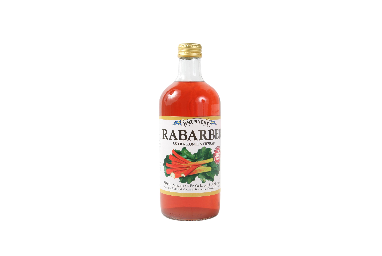 Högupplöst bild på Rabarbersaft i 50cl flaska.