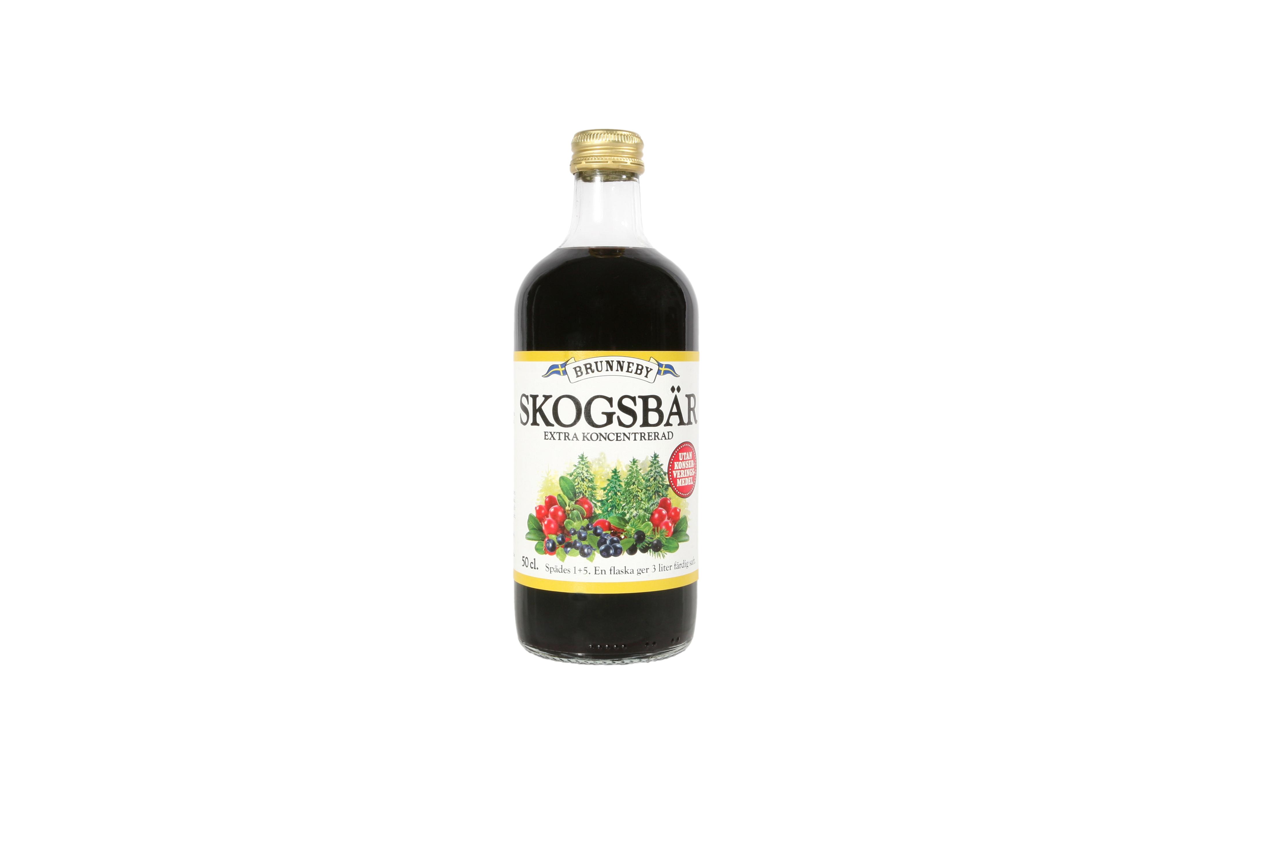 Högupplöst bild på Skogsbärssaft i 50cl flaska.