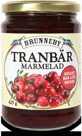 Bild på Tranbärsmarmelad i 425g burk.
