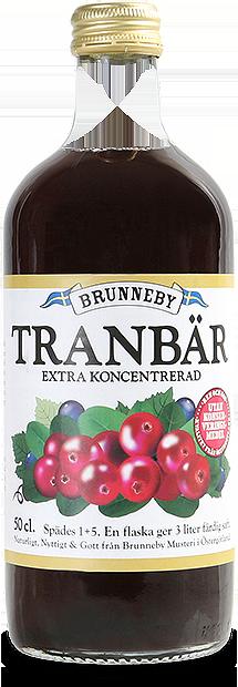 Bild på Tranbärssaft i 50cl flaska.