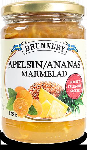 Bild på Apelsin och ananasmarmelad i 425g burk.