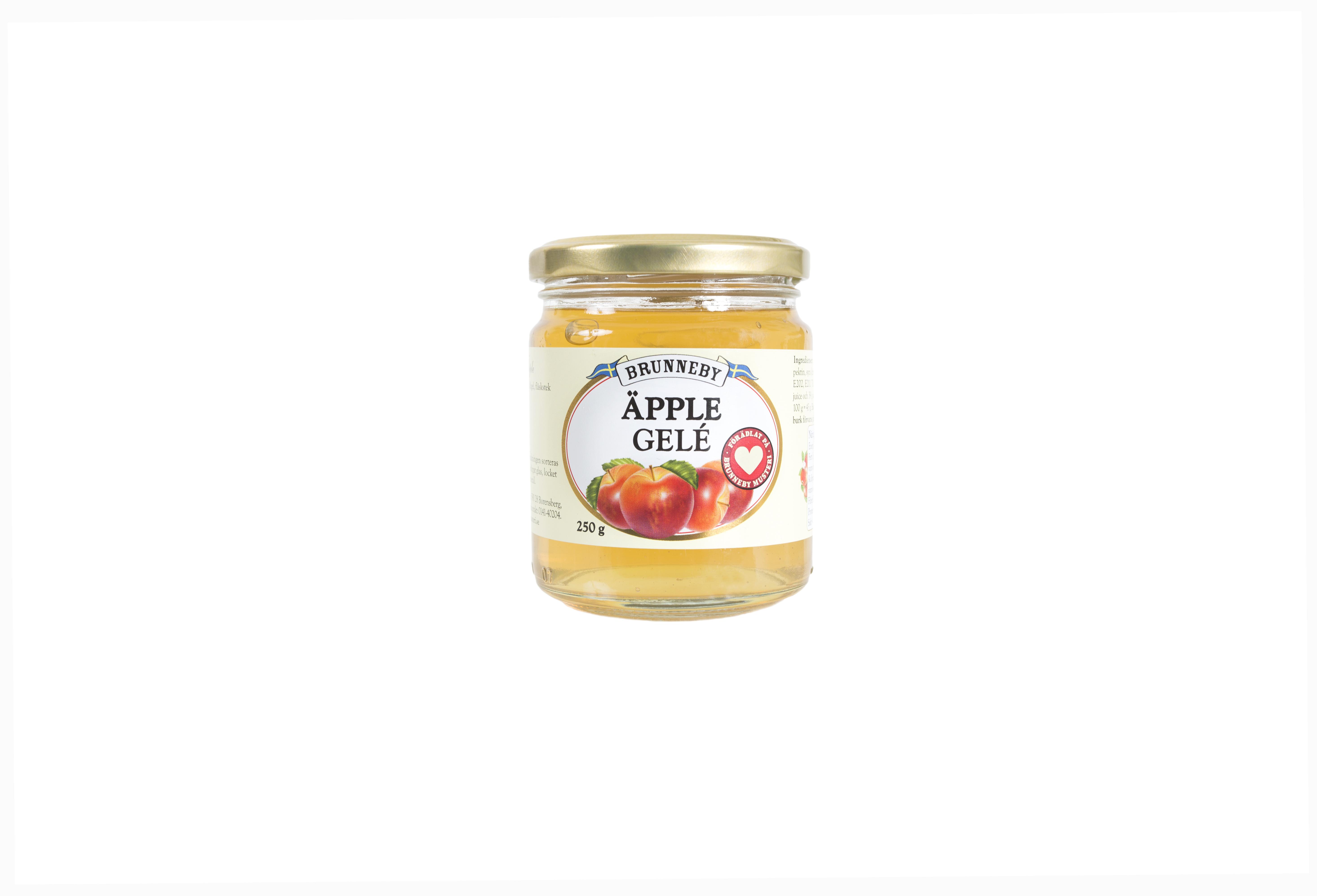 Högupplöst bild på Äpplegelé i 250 g burk.