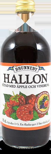 Bild på Hallonsaft utan tillsatt socker i 50cl flaska.