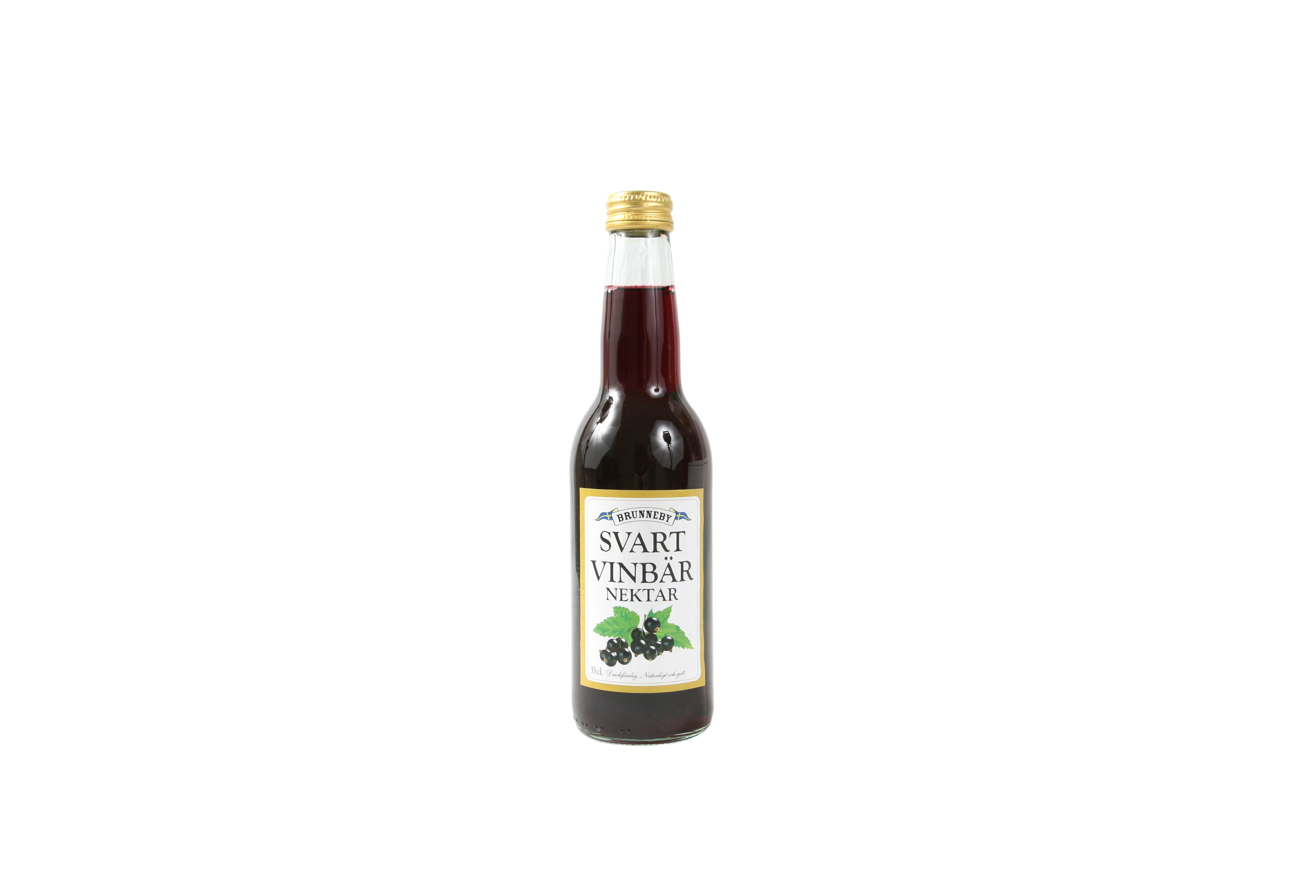 Högupplöst bild på Svartvinbärsnektar i 33 cl flaska.